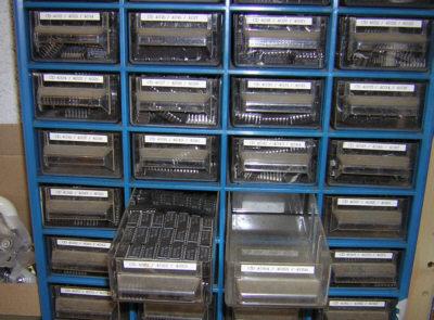Electronique bases rangement composants - Casier rangement visserie ...